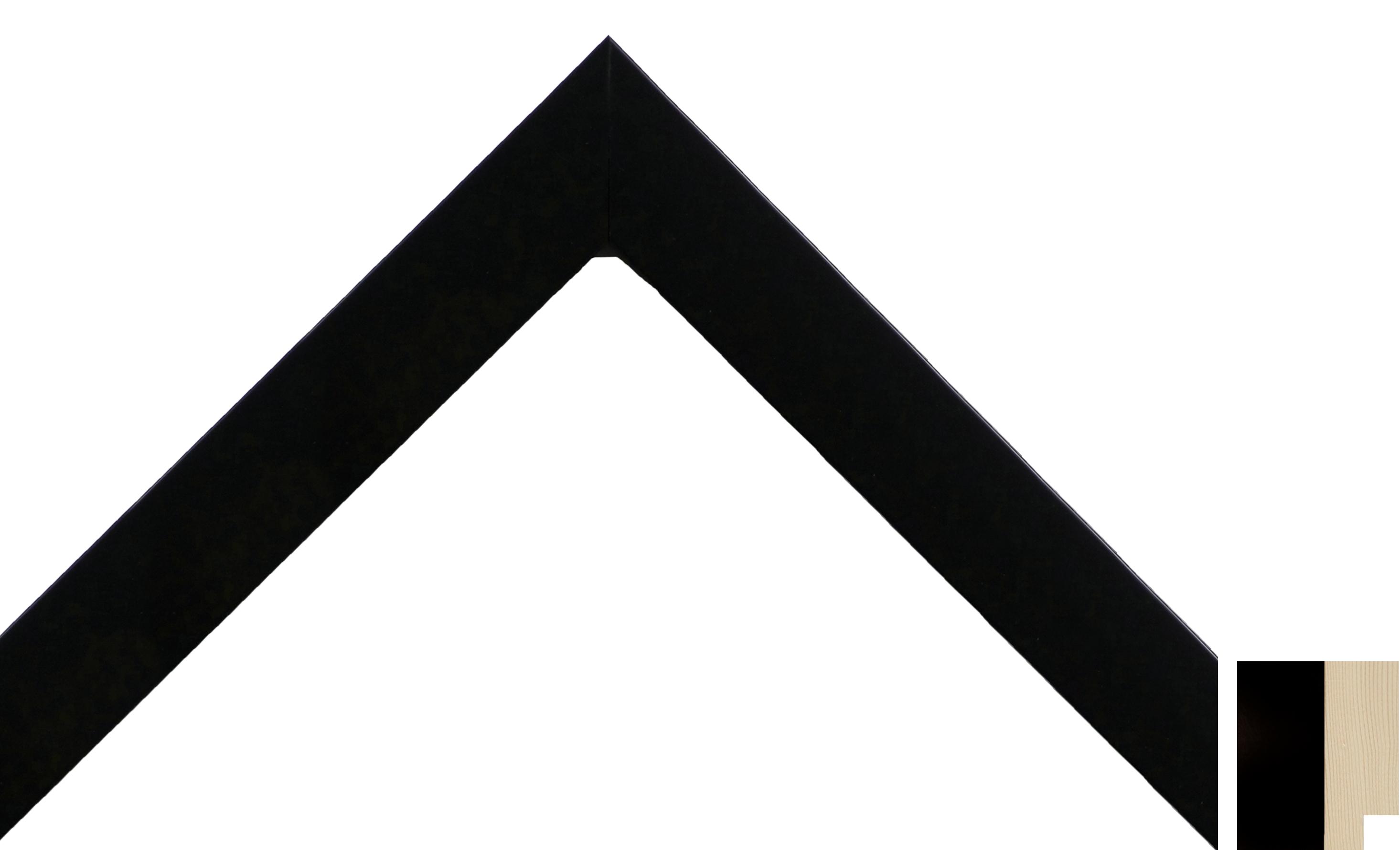 DuraPlaq® Stock Frame: 1115 | 1″ Flat Black Economy Frame | DuraPlaq